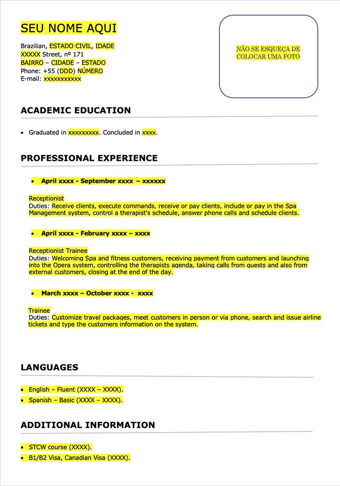 Resume Template - Model 01