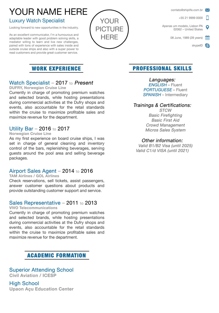 Resume Template - Model 04