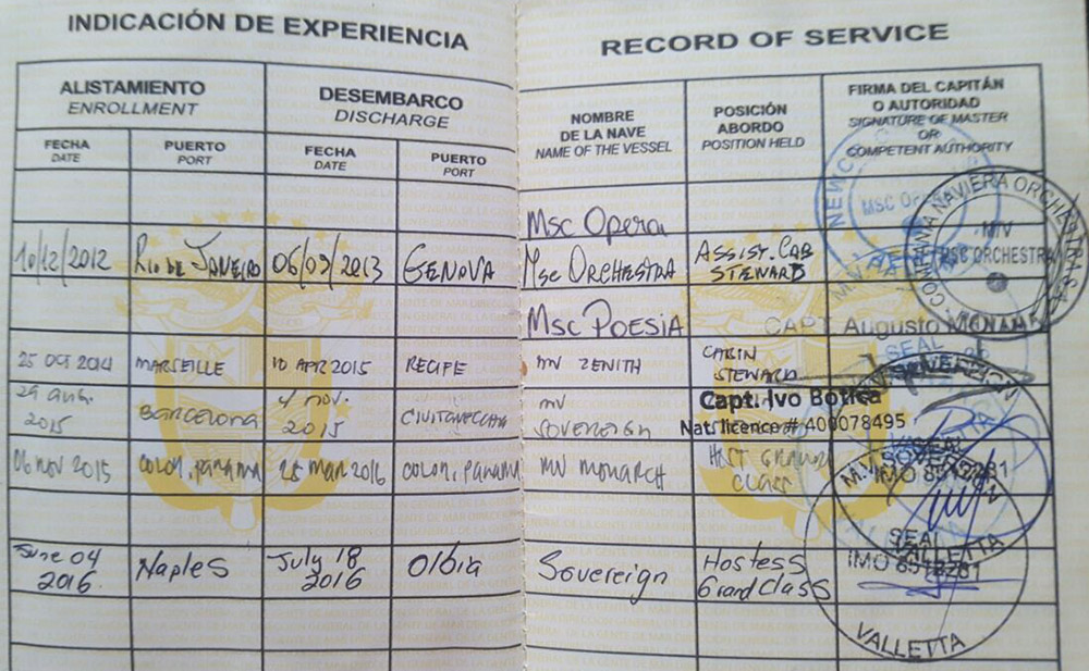 SeamansBook Record of Service